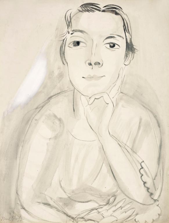 Raoul Dufy-Portrait De Madame Dufy-1919