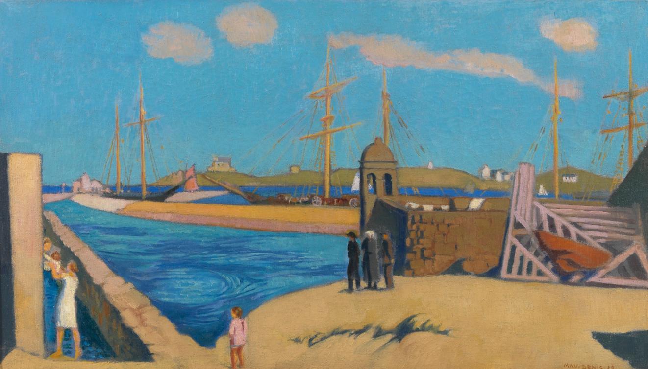 Maurice Denis-Vue De Roscoff-1928