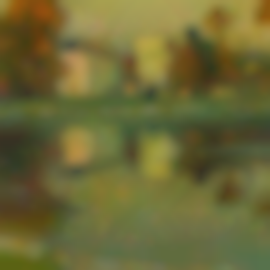 Henri Eugene Le Sidaner-Automne A Versailles-1917