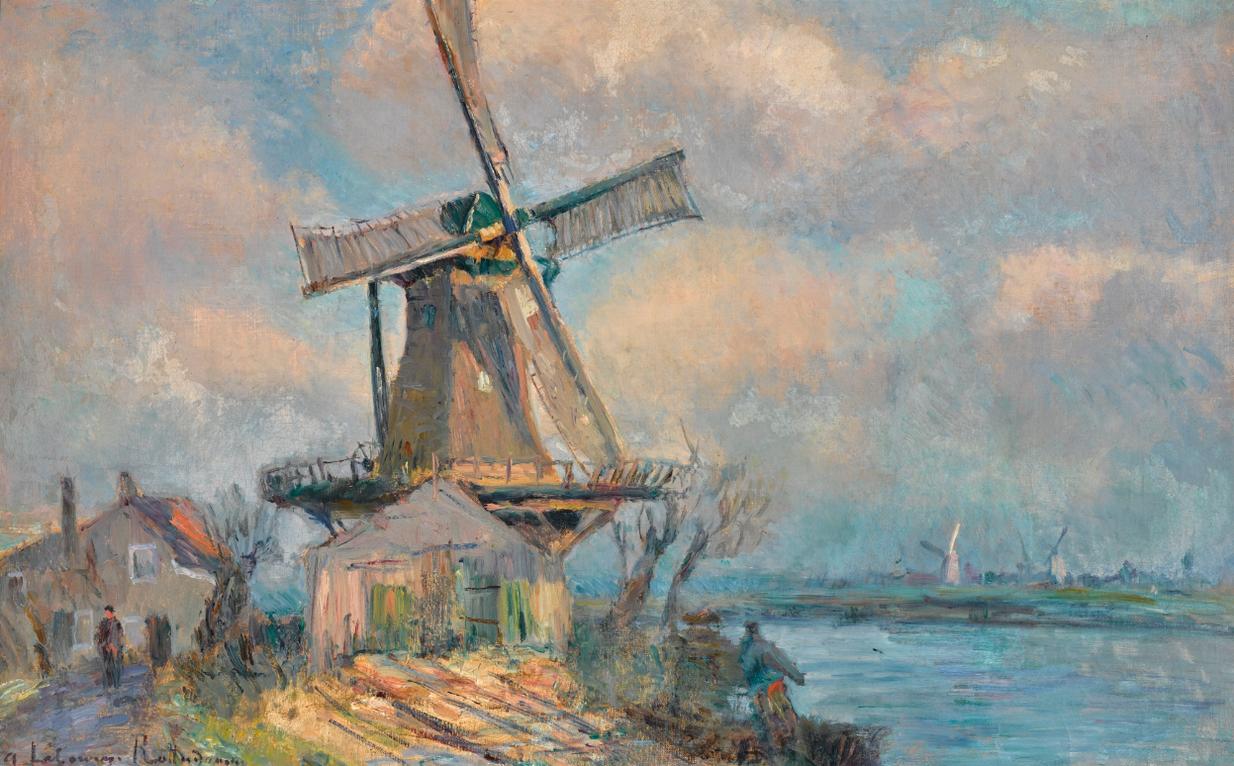 Albert Lebourg-Moulin A Vent A Rotterdam-