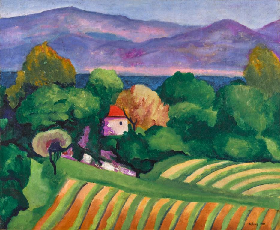 Moise Kisling-Saint Tropez-1918