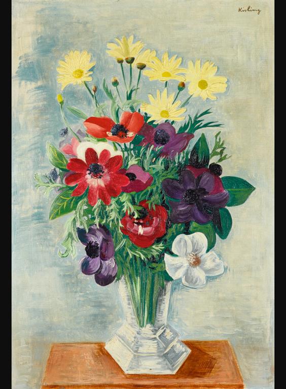Moise Kisling-Bouquet Varie-1938