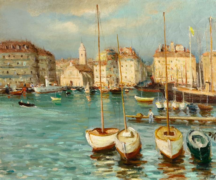 Marcel Dyf-Scene De Port-1930