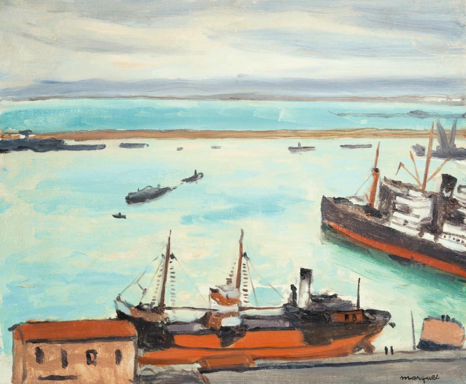Albert Marquet-Le Bateau Rouge A Quai-1934