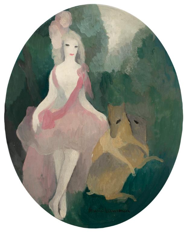 Marie Laurencin-Femme Aux Deux Biches-1921