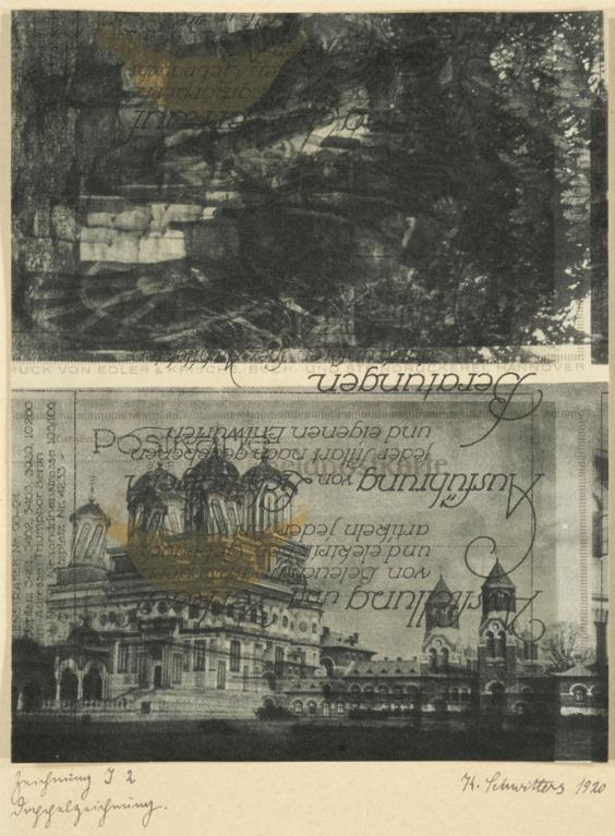 Kurt Schwitters-Zeichnung I 2 Doppelzeichnung (Drawing I 2 Double Drawing)-1920