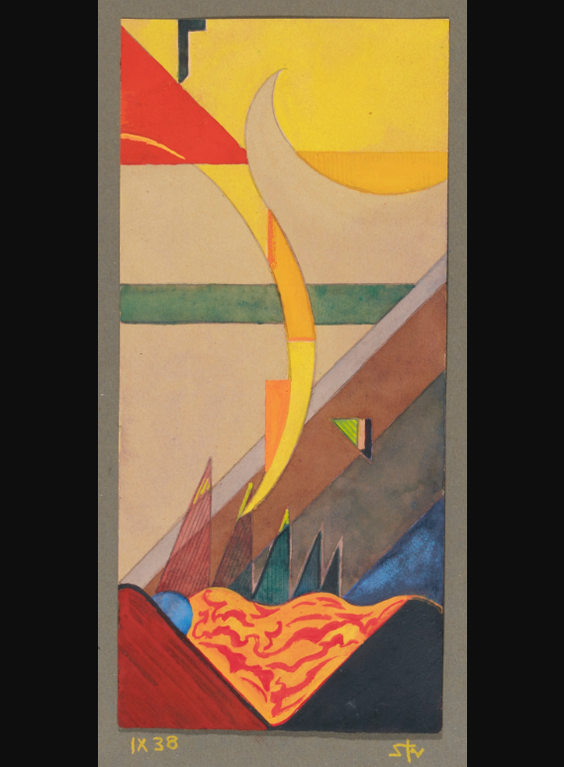 Fritz Stuckenberg - Abstrakte Komposition Ix 38 (Abstract Composition Ix 38)-1938
