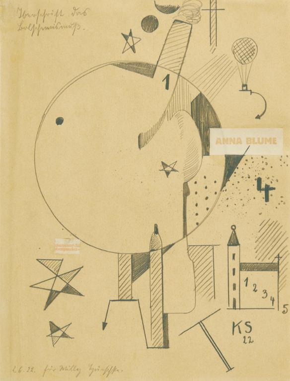 Kurt Schwitters-Iberschrift Das Bloschewismuss-1922