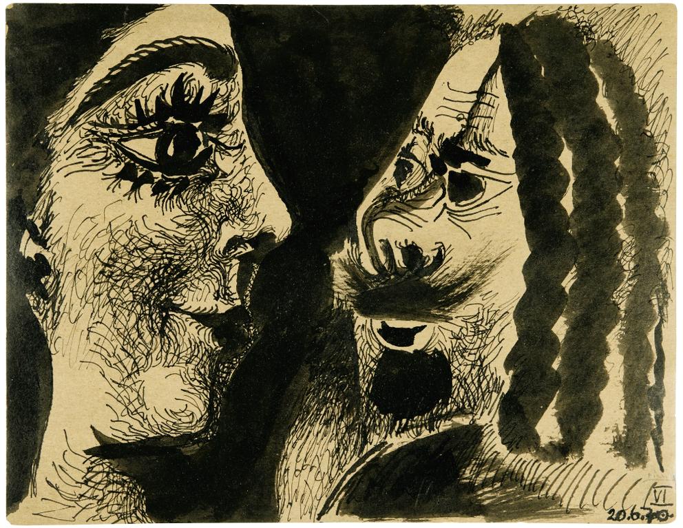 Pablo Picasso-Deux Tetes-1970
