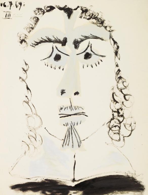 Pablo Picasso-Tete Dhomme-1969