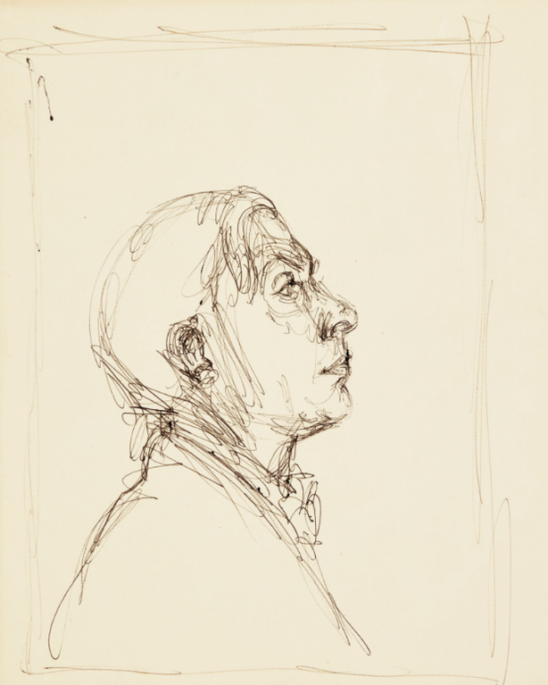 Alberto Giacometti-Portrait De Pierre Reverdy-1962