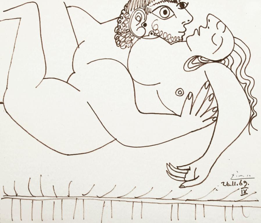 Pablo Picasso-Letreinte-1969