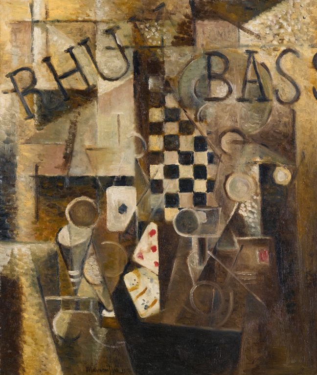 Louis Marcoussis-Nature Morte Au Damier/Rhum/Bass-1912