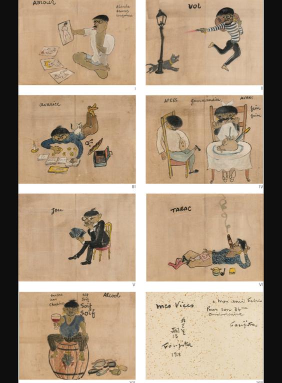 Tsuguharu Foujita-Mes Vices-1928