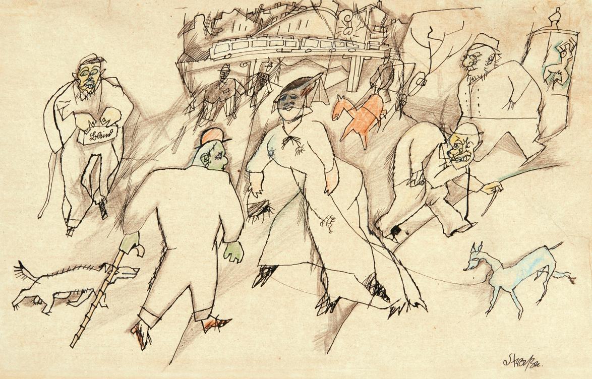 George Grosz-Strasse (Street)-1916