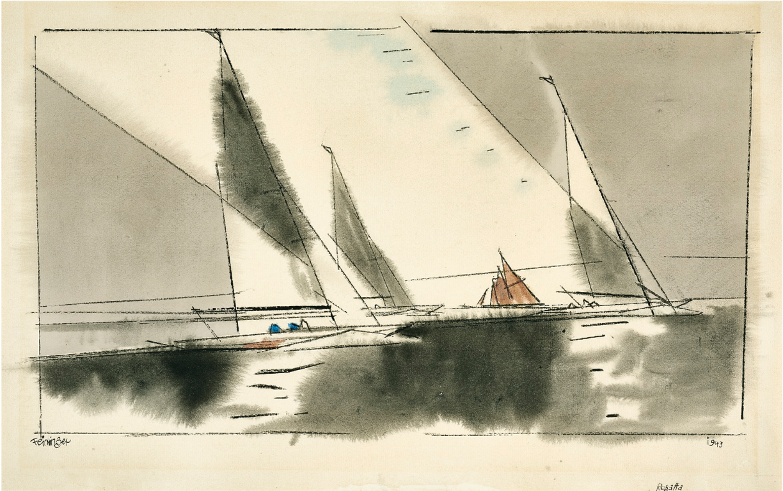 Lyonel Feininger-Regatta-1943