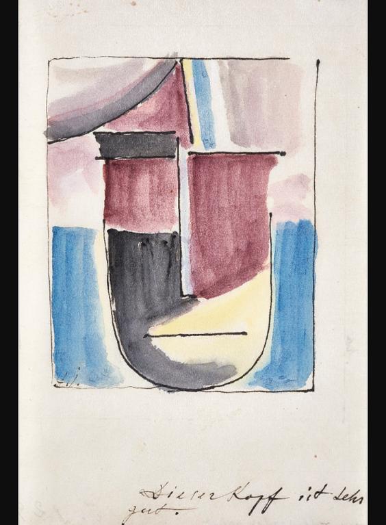 Alexej von Jawlensky-Abstrakter Kopf (Abstract Head)-1925