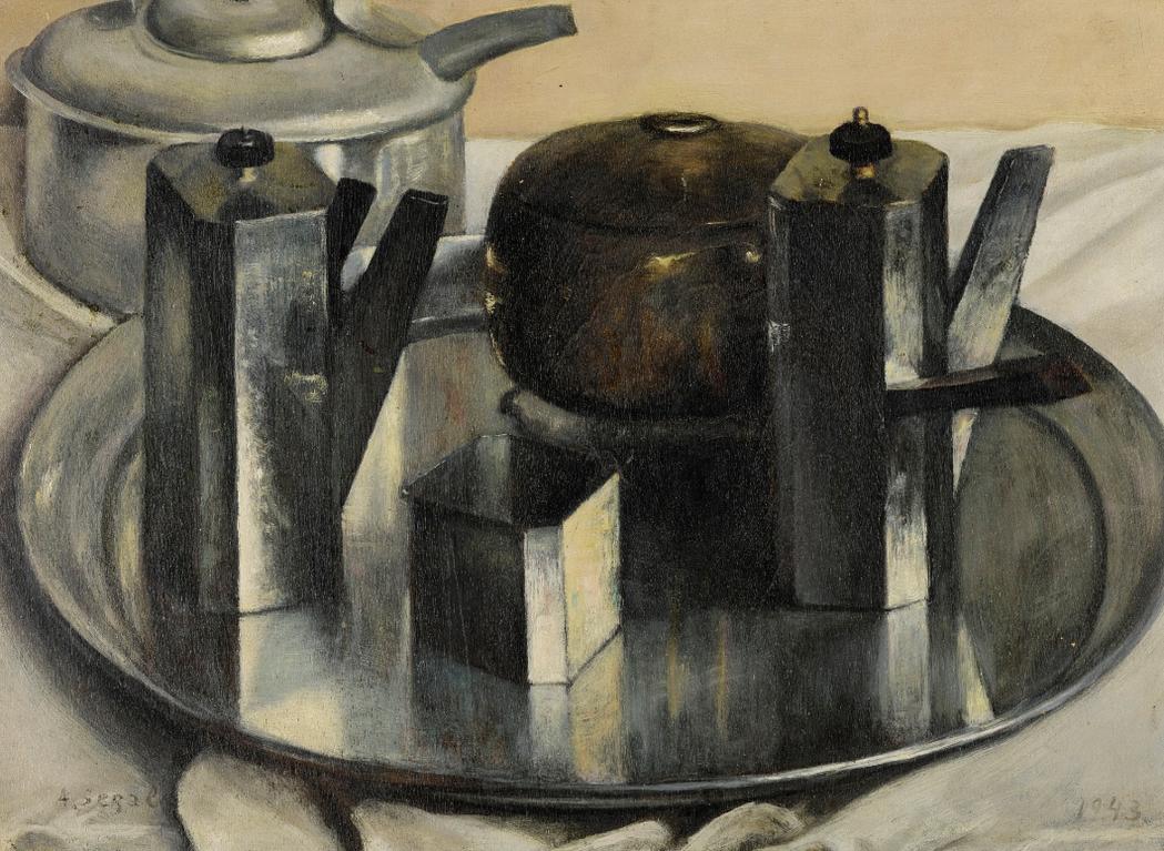 Arthur Segal-Metall-Stilleben (Prismatische Lichtkonstruktion) (Metal Still Life (Prismic Light Construction))-1943