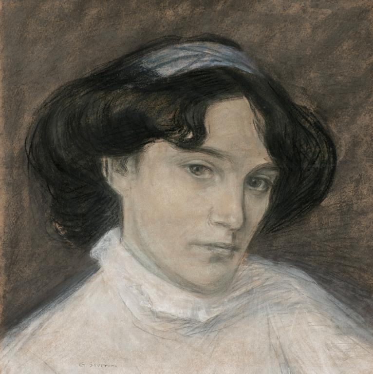 Gino Severini-Portrait De Jeune Femme-1908