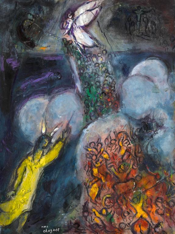 Marc Chagall-La Traversee De La Mer Rouge-