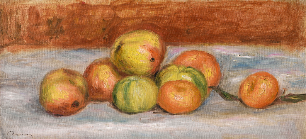 Pierre-Auguste Renoir-Nature Morte Aux Pommes Et Mandarines-1907