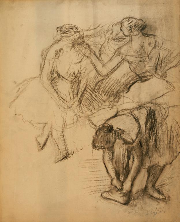 Edgar Degas-Groupe De Quatre Danseuses-1908