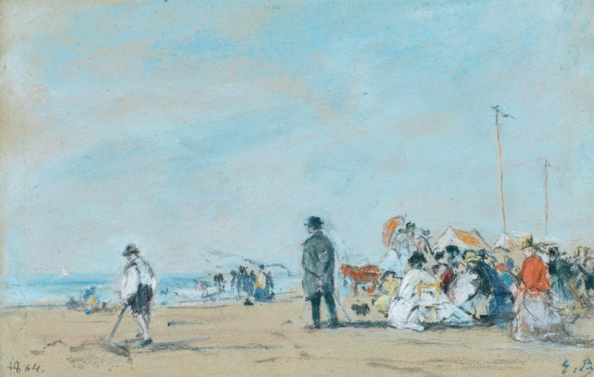 Eugene Louis Boudin-Scene De Plage-1864