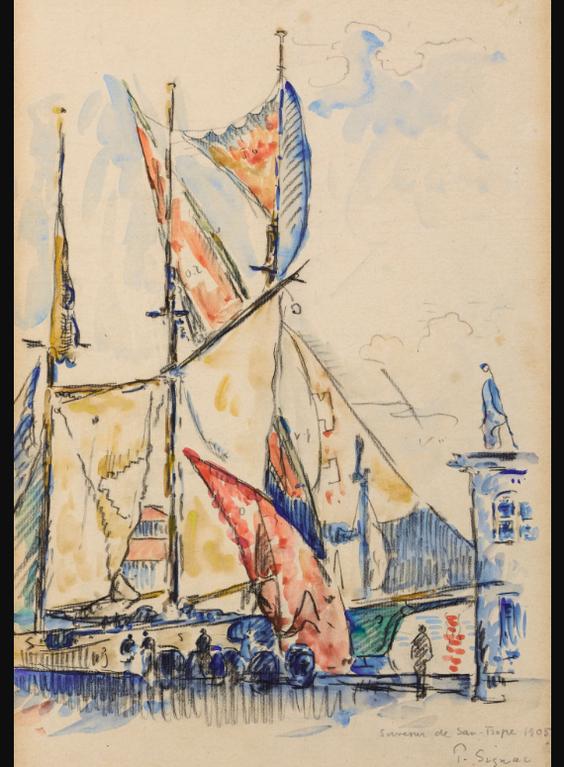 Paul Signac-Saint-Tropez-1905