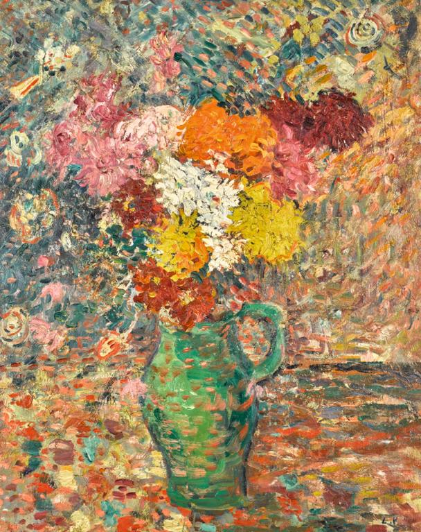 Louis Valtat-Grand Bouquet Au Pichet Vert-1895
