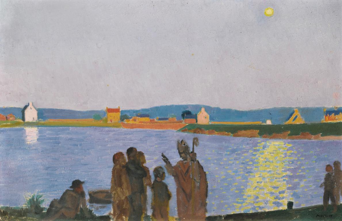 Maurice Denis-Saint-Guirec (Lever De Lune)-1915