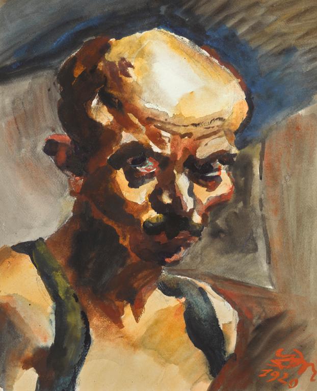 Ludwig Meidner - Selbstportrat (Self Portrait)-1920