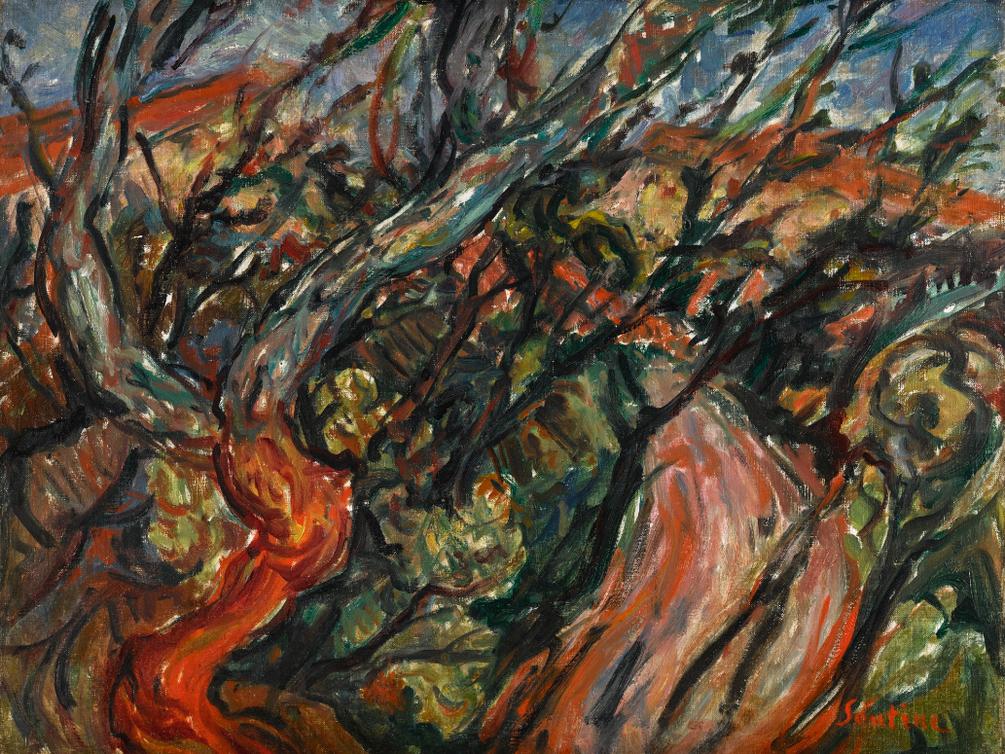 Chaim Soutine-Paysage Arbreux-1919
