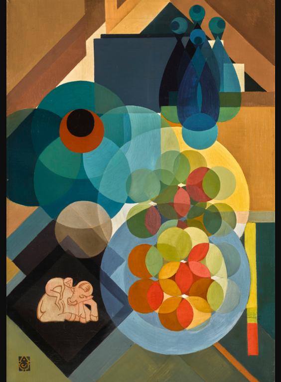 Adrianus Johannes Grootens - Kubistich Stilleven (Cubist Still Life)-1917