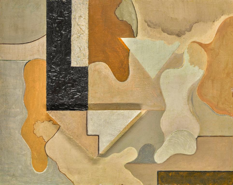 Willi Baumeister-Plastisches Bild (Three Dimensional Image)-1920