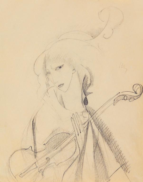 Marie Laurencin-Jeune Fille Au Violon-1913