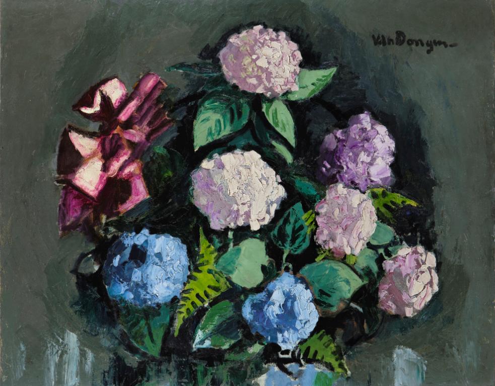 Kees van Dongen-Bouquet Dhortensias-1935
