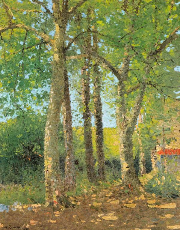 Achille Lauge-Paysage Aux Grands Arbres-1916