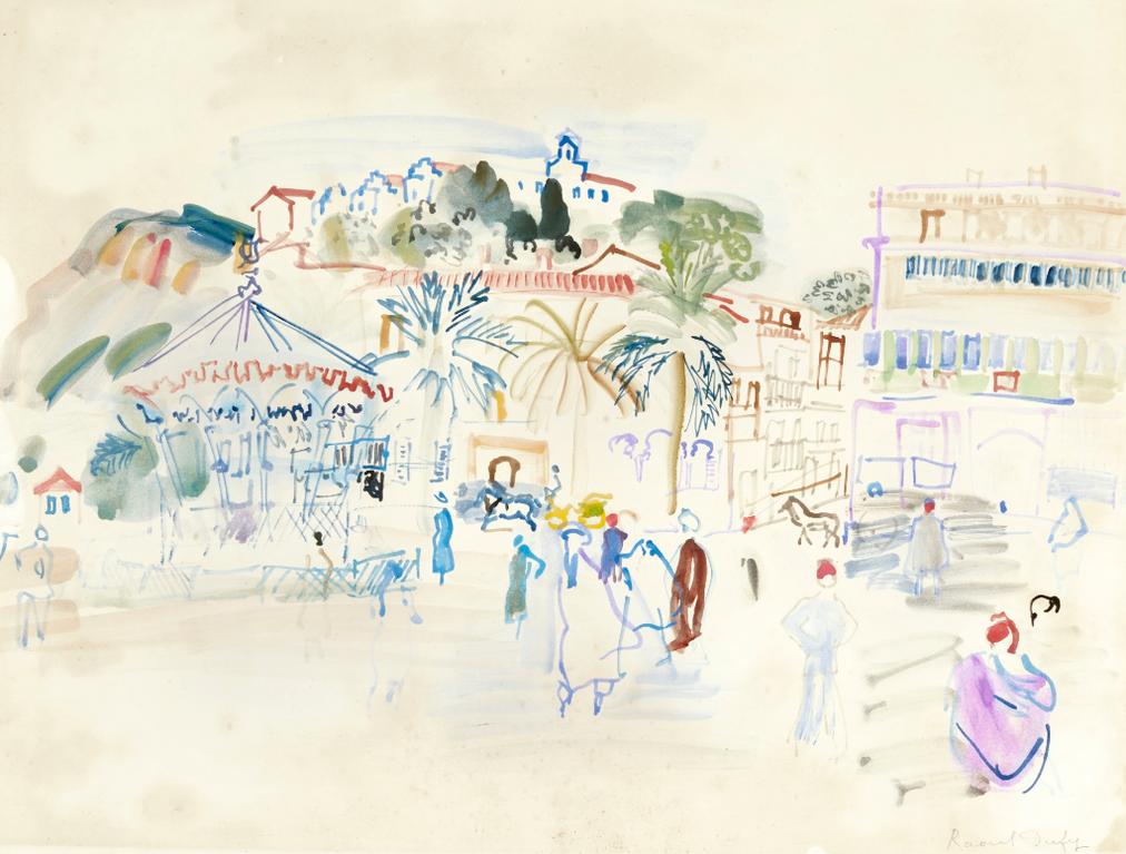 Raoul Dufy-Philippeville, La Place-1934