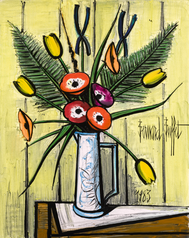 Bernard Buffet-Anemones Et Tulipes-1983