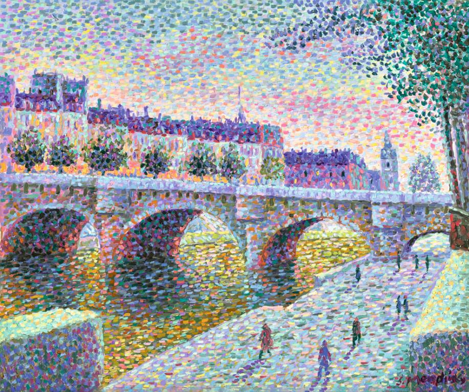 Serge Mendjisky-Paris, Le Pont Neuf-1990