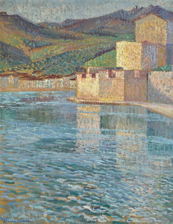 Henri Martin-Ramparts A Collioure-1915