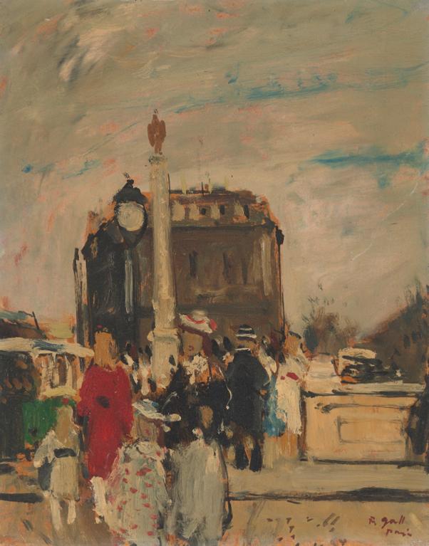 Francois Gall-La Colonne De La Fontaine, Place Du Chatelet Depuis Le Pont-Au-Change-1950