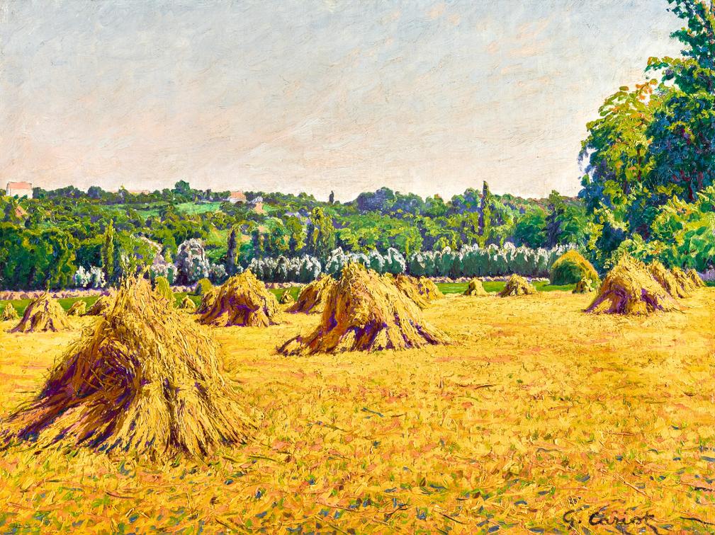 Gustave Cariot-Les Meules De Foin-