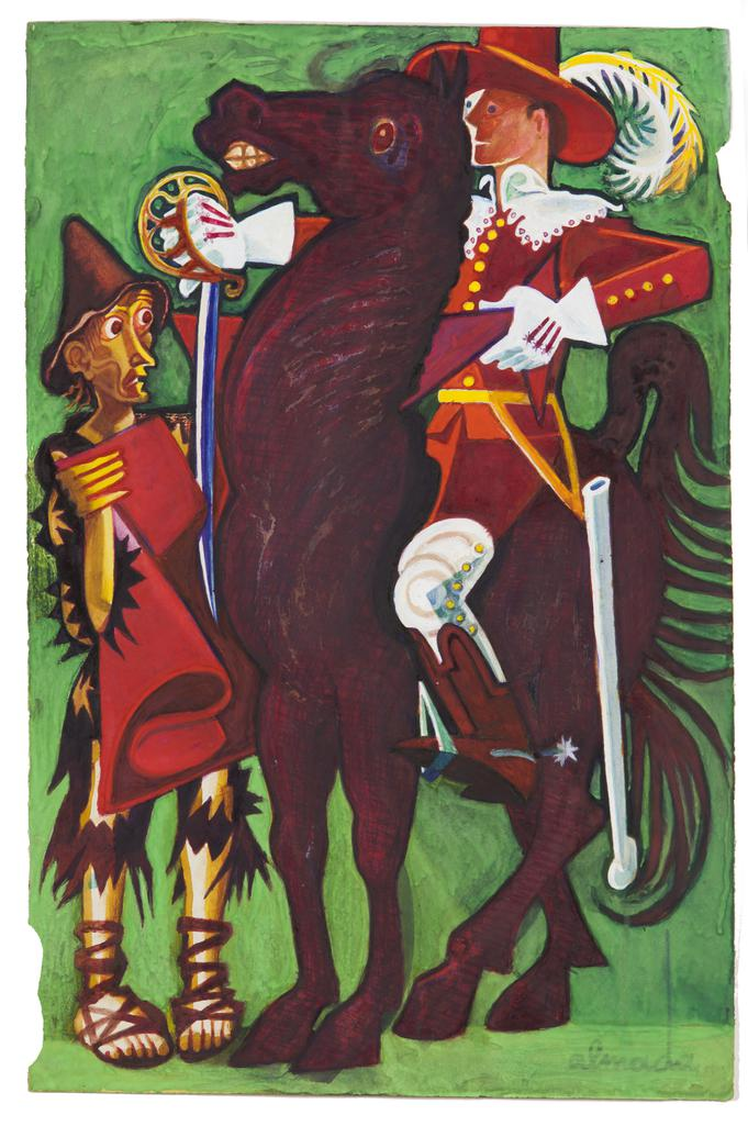 Almada Negreiros - Untitled (Knight - Saint Martin)-
