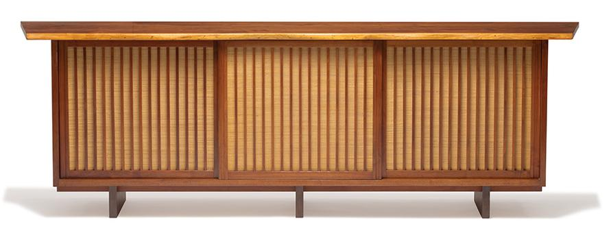 George Nakashima - Triple Sliding Door Cabinet-1975
