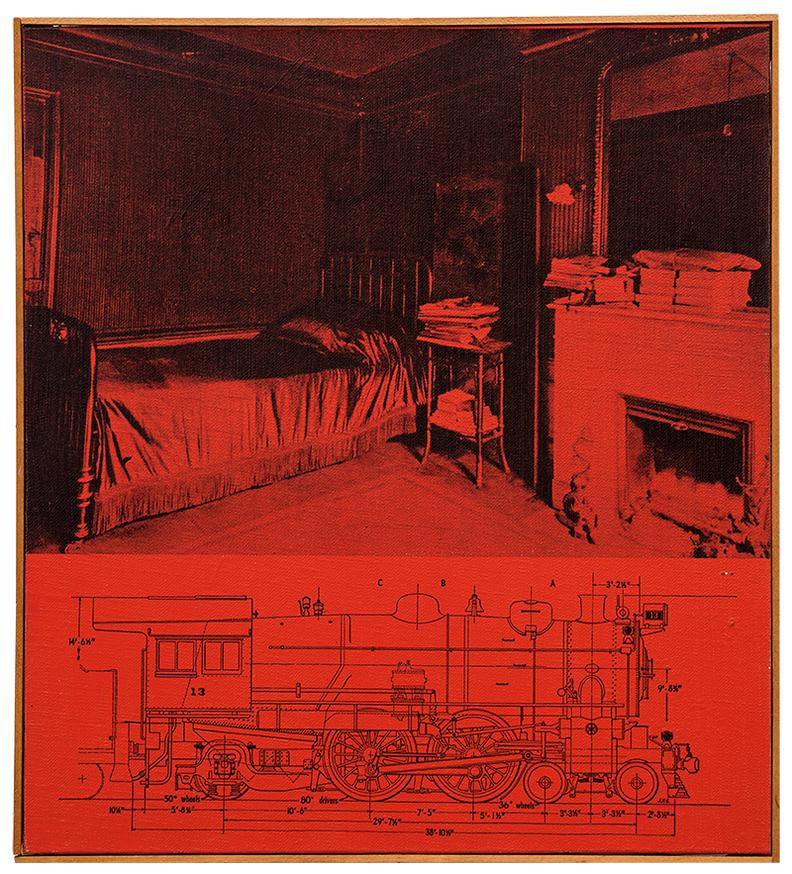 Richard Pettibone-Untitled (Prousts Bedroom With Train, Red)-1965