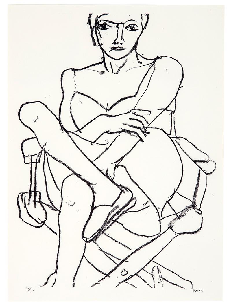 Richard Diebenkorn-Works From Seated Woman Series (4)-1965