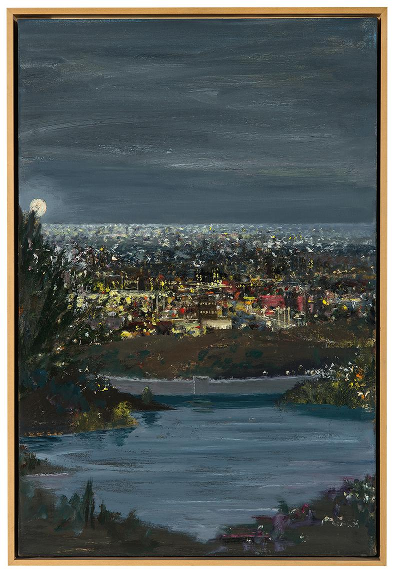 Larry Cohen-View Of Hollywood Reservoir At Night-2008