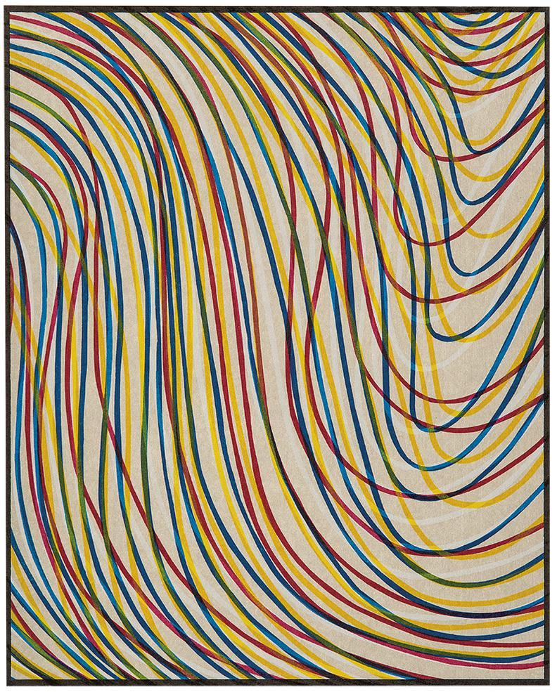 Sol LeWitt-Wavy Lines On Gray-1998