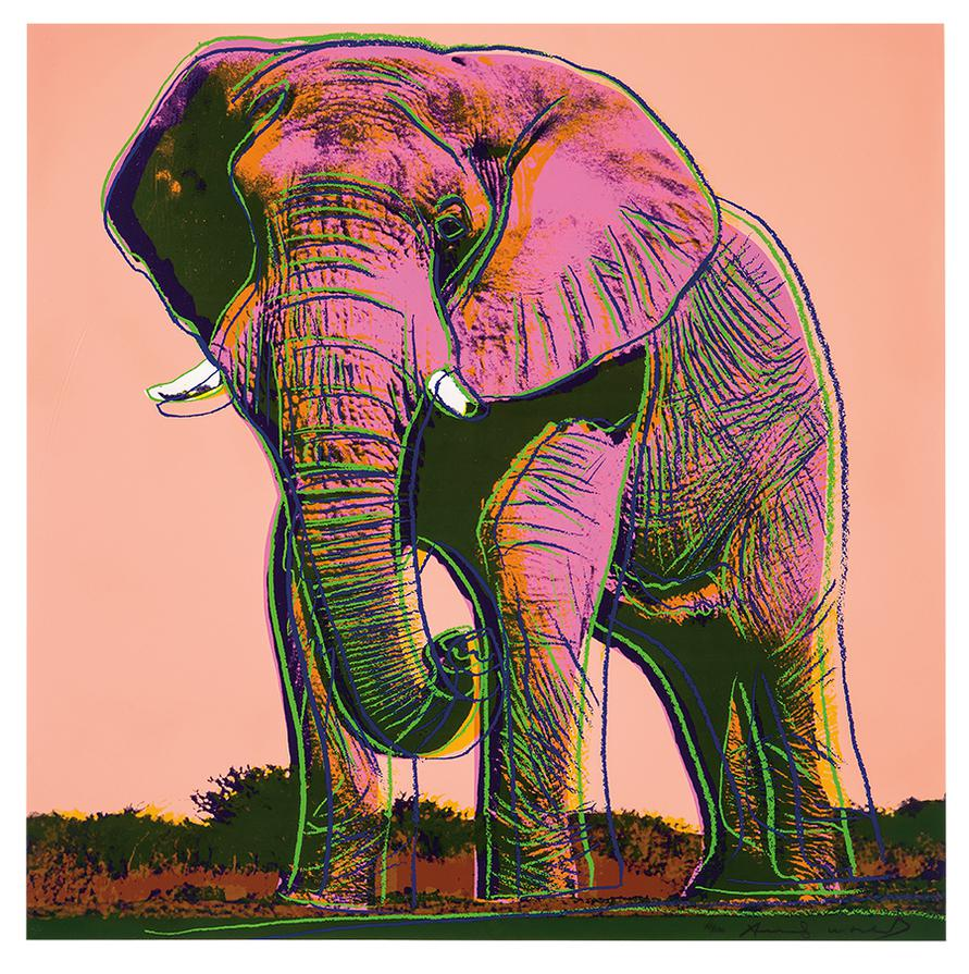 Andy Warhol-African Elephant (From Endangered Species Portfolio)-1983